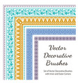 set of decorative color brushes vector image vector image