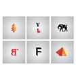 Set of flat design icons vector image