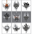 set of musical designs vector image vector image