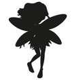 silhouette fairy character on white background vector image vector image