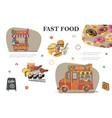 sketch fast food elements composition vector image vector image