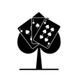 spade poker sign with three card casino vector image vector image