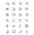 Sports Hand Drawn Doodle Icons 6 vector image vector image
