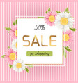 spring sale discount chamomile daisy flowers vector image
