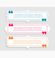 three vintage style quotes template design set vector image vector image