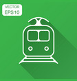 train transportation icon with long shadow vector image vector image