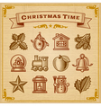 Vintage Christmas Decorations vector image vector image