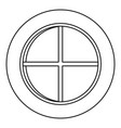 white round window icon outline vector image vector image