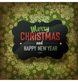 xmas card design on green vector image