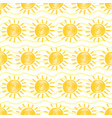 yellow marker sun seamless pattern vector image vector image