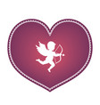heart with cupid vector image