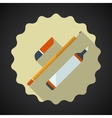 Designer Drawing Items include pencil eraser vector image