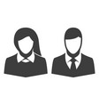 icon of man and woman vector image
