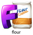 A letter F vector image vector image