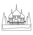 arabian castle icon image vector image