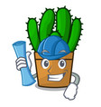 architect character spurge cactus home decor vector image vector image