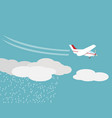 artificial rain rainmaking cloud seeding vector image vector image
