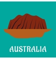 Australian travel landmark flat design vector image
