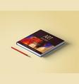 beautiful art book cover template design