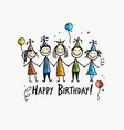 birthday party postcard for your design vector image vector image