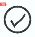 black wave check mark or tick icon in a circle vector image vector image