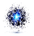 Blue techno style explosion vector image