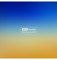 Blurred background Sea and sun vector image