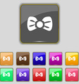 Bow tie icon sign Set with eleven colored buttons vector image vector image
