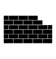 brick wall icon image vector image