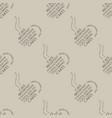 cafe seamless wallpaper vector image vector image
