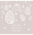 card with painted egg vector image vector image