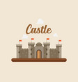 castle in flat style design vector image