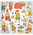 Children play with toys vector image vector image