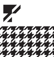 classic hounds tooth swatch pattern vector image vector image