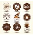 coffee label5 vector image vector image