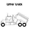 Collection of tipper truck vector image vector image