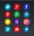 colorful social media icons vector image