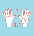 count on fingers number one gesture stylized vector image vector image