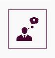 creative businessman icon simple idea sign vector image vector image