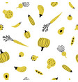cute yellow vegetables vector image vector image
