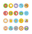 Design and Development Icons 2 vector image vector image