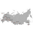 detailed map russia vector image