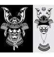 detailed samurai armor vector image vector image