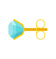 diamond sterling earring jewelry related icon vector image vector image