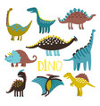 dinosaurus set on white background vector image