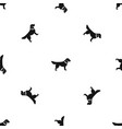 dog pattern seamless black vector image vector image
