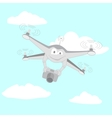 Drone filmed by the camera vector image vector image