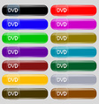 dvd icon sign Big set of 16 colorful modern vector image vector image