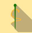 emblem for drugstore or medicine the snake vector image