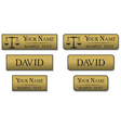 engraved metal name badges vector image vector image
